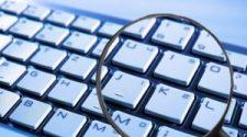 Zoom sur un clavier d'ordinateur